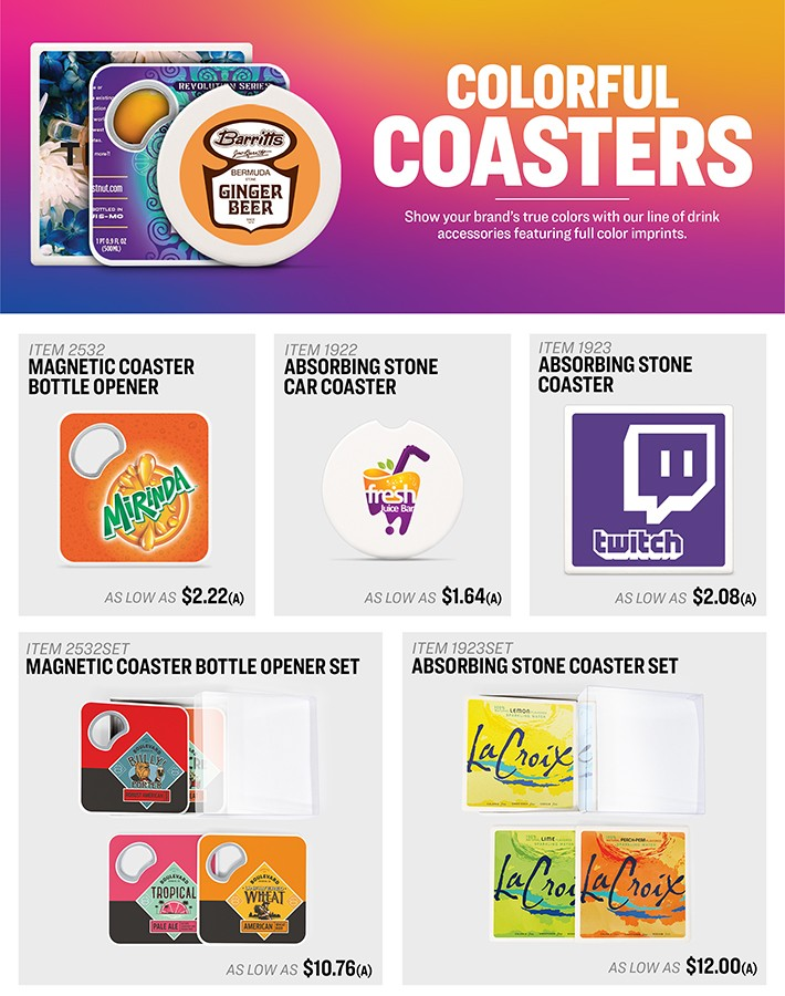 Colorful Coasters<br><p2>for additional personalization, contact us at <a  data-cke-saved-href='mailto:service@alexandermc.com?&subject=Flyer Personalization-Colorful Coasters&body=Hello, I would like to have my company information added to the Colorful Coasters flyer. ATTN DISTRIBUTORS: Please provide your contact info, and attach your logo. For custom virtuals, please attach your customers logo as well.' href='mailto:service@alexandermc.com?&subject=Flyer Personalization-Colorful Coasters&body=Hello, I would like to have my company information added to the Colorful Coasters flyer. ATTN DISTRIBUTORS: Please provide your contact info, and attach your logo. For custom virtuals, please attach your customers logo as well.'>service@alexandermc.com</p></a>