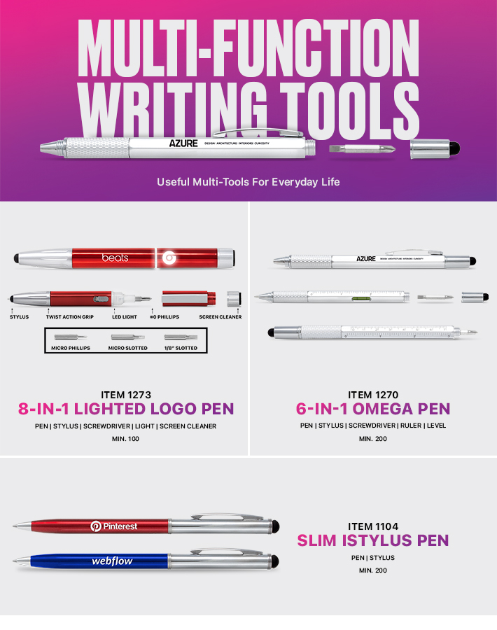 Multi-Function Pens<br><p2>for additional personalization, contact us at <a  data-cke-saved-href='mailto:service@alexandermc.com?&subject=Flyer Personalization-Multi-Function Pens&body=Hello, I would like to have my company information added to the Multi-Function Pens flyer. ATTN DISTRIBUTORS: Please provide your contact info, and attach your logo. For custom virtuals, please attach your customers logo as well.' href='mailto:service@alexandermc.com?&subject=Flyer Personalization-Multi-Function Pens&body=Hello, I would like to have my company information added to the Multi-Function Pens flyer. ATTN DISTRIBUTORS: Please provide your contact info, and attach your logo. For custom virtuals, please attach your customers logo as well.'>service@alexandermc.com</p></a>