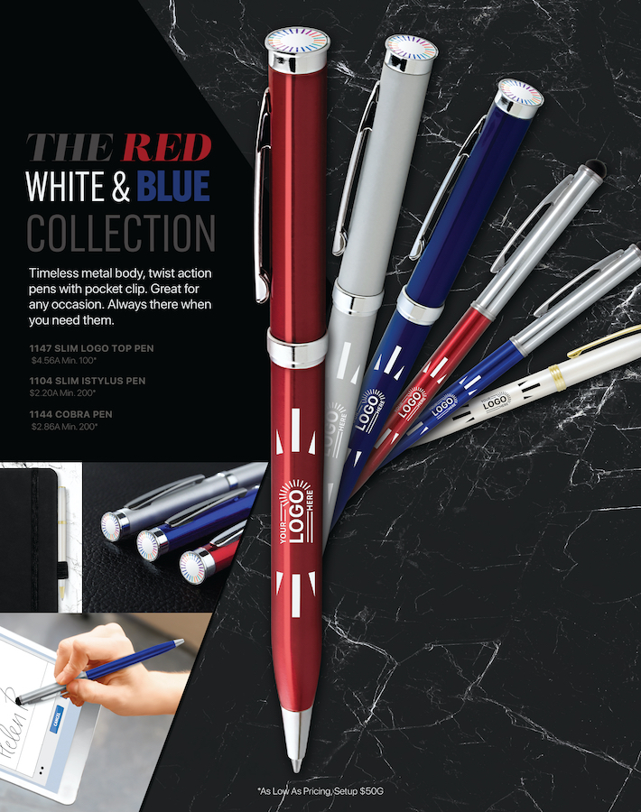 Red, White & Blue Pens<br><p2>for additional personalization, contact us at <a  data-cke-saved-href='mailto:service@alexandermc.com?&subject=Flyer Personalization-Red, White & Blue Pens&body=Hello, I would like to have my company information added to the Red, White & Blue Pens flyer. ATTN DISTRIBUTORS: Please provide your contact info, and attach your logo. For custom virtuals, please attach your customers logo as well.' href='mailto:service@alexandermc.com?&subject=Flyer Personalization-Red, White & Blue Pens&body=Hello, I would like to have my company information added to the Red, White & Blue Pens flyer. ATTN DISTRIBUTORS: Please provide your contact info, and attach your logo. For custom virtuals, please attach your customers logo as well.'>service@alexandermc.com</p></a>