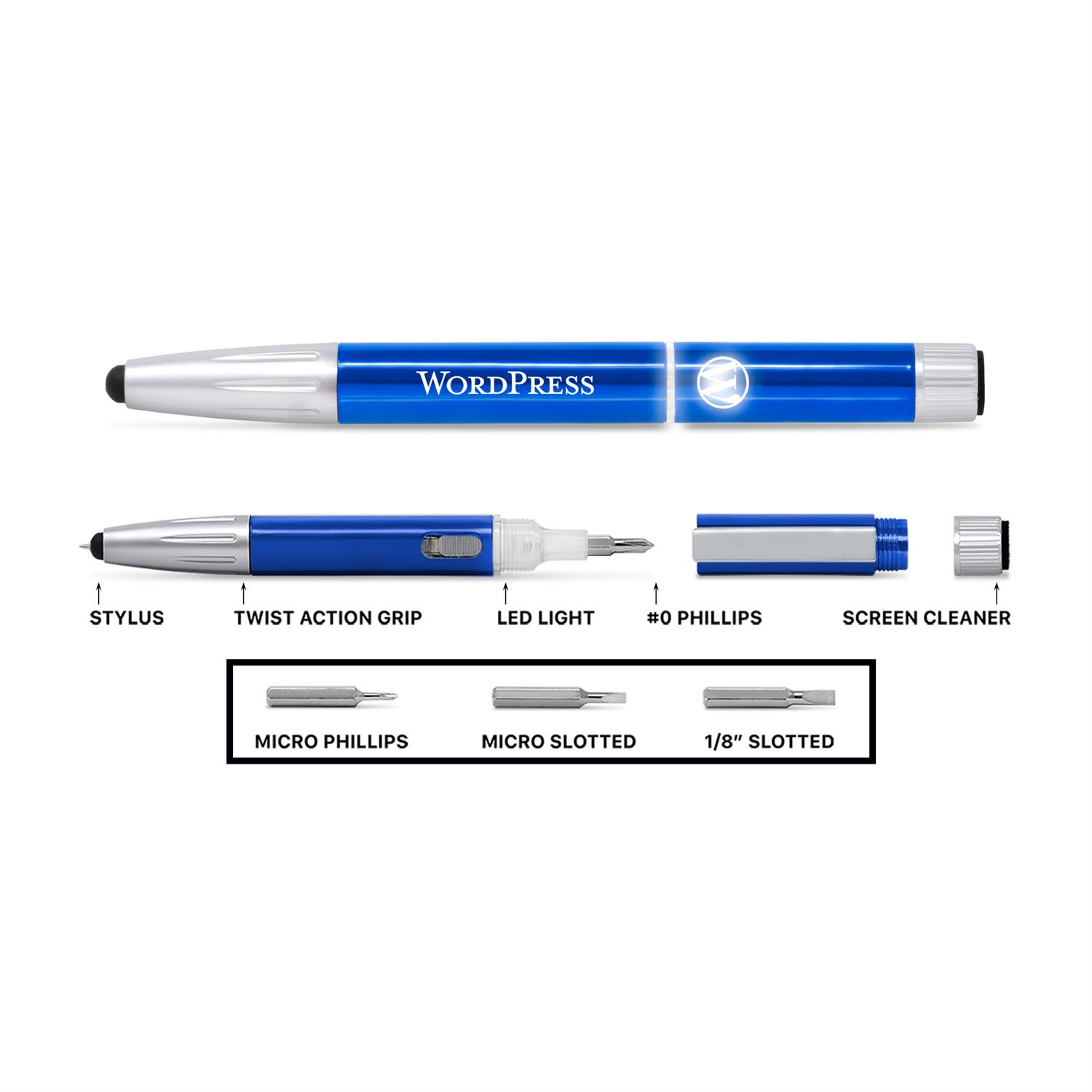 8 in 1 Lighted Logo Pen