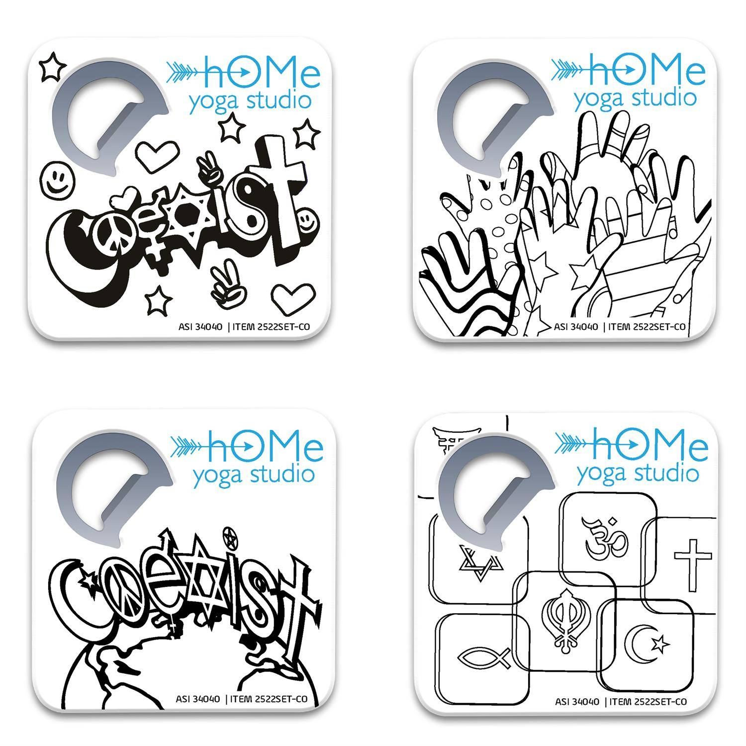 Color Me 4 Coaster & Bottle Opener Set