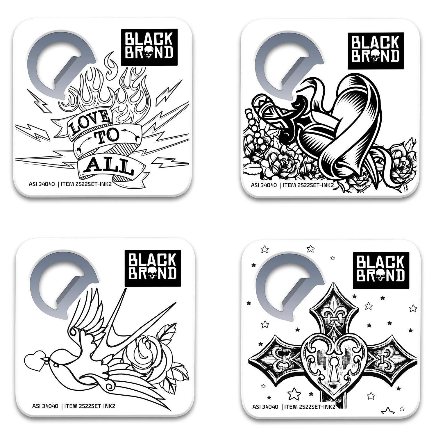 Color Me Coaster & Bottle Opener Set