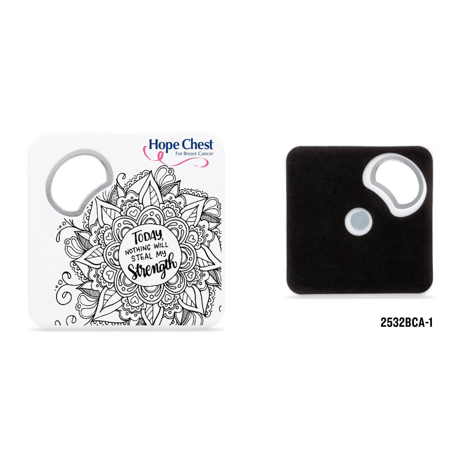 2532BCA - Color Me Magnetic Coaster With Bottle Opener