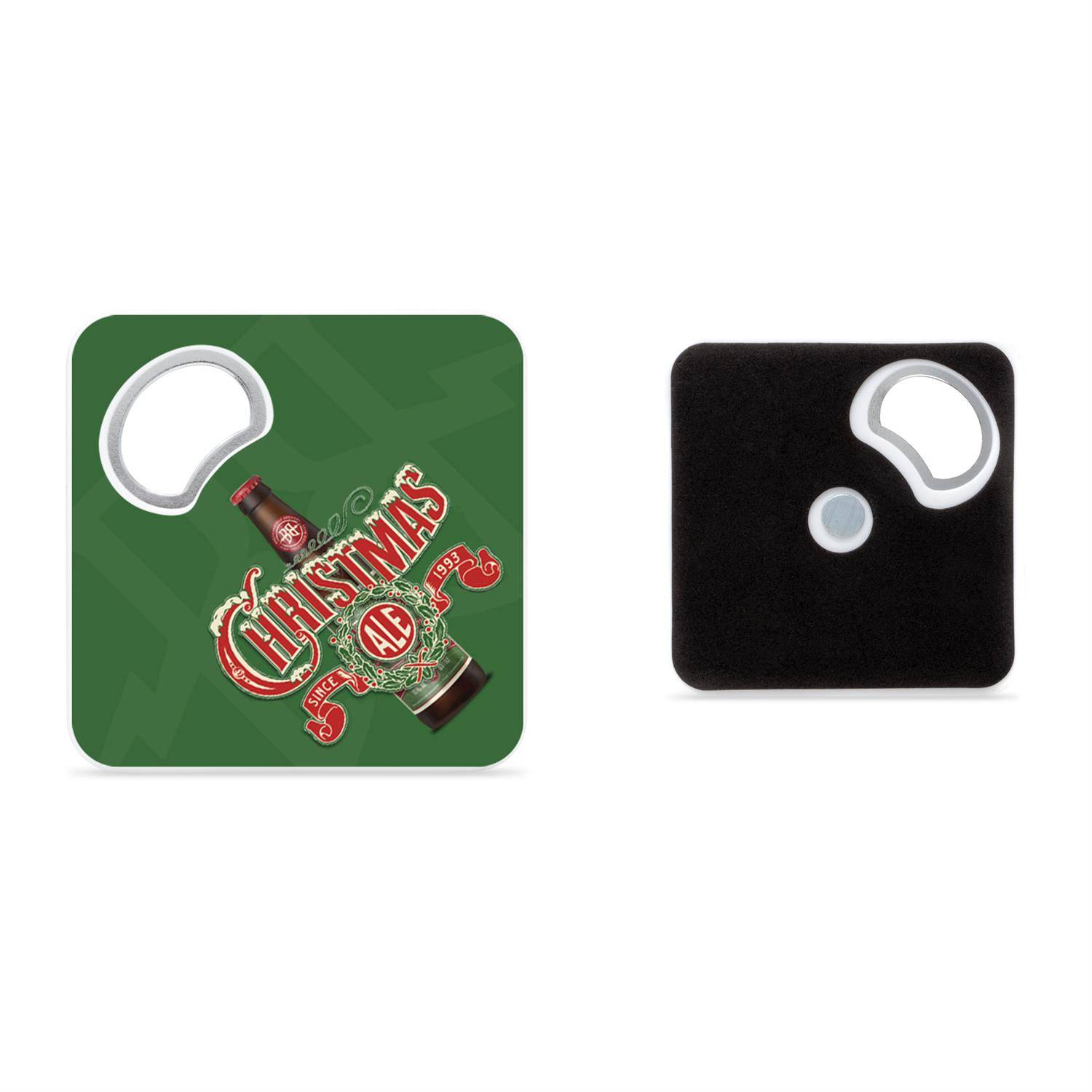 Magnetic Coaster With Bottle Opener