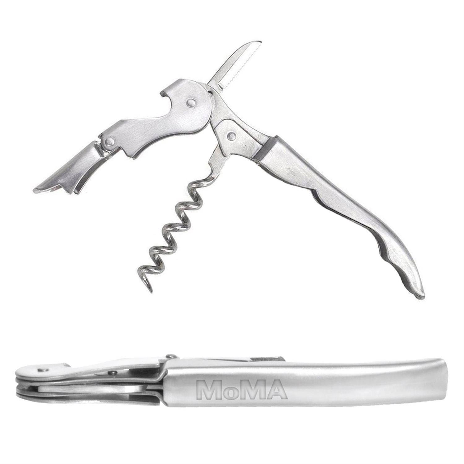 Double Jointed Corkscrew Bottle Opener