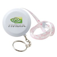 Round Tape Measure Key Tag
